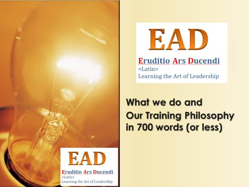 What we do - Our Training Philosophy